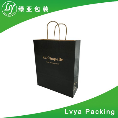 Recycled Top Quality New Design flat handle kraft paper bag