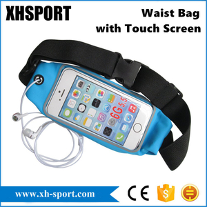 Portable Outdoor Sport Running Waist Bag with Touch Screen