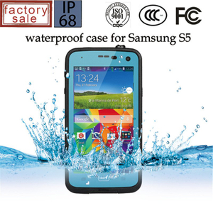 Waterproof Plastic Phone Cover Case for Samsung S5 9600 (RPDOTS5)