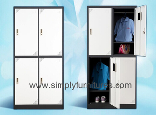 office closet with 4 doors