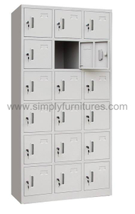 China storagel locker with 18 doors