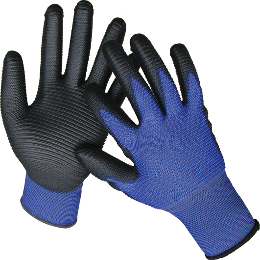 DARK BLUE PU GLOVES