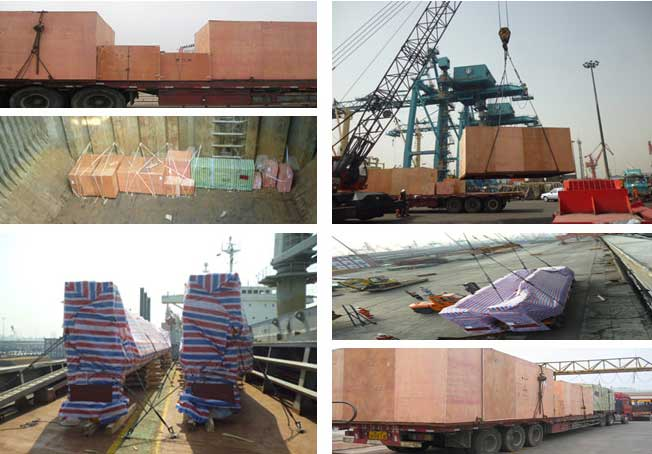 Ebon Machniery deliver two cranes to Indonesia successfully