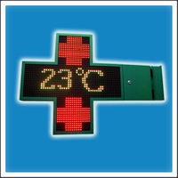 HTC-P20-1000 Programmable LED Pharmacy Cross Sign Board