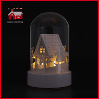 Glass Bell Jars Wholesale Glass Dome with Base LED Home Decorative Glass Vases