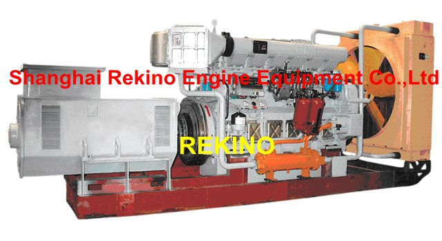 Zichai 6170 series medium speed marine diesel generator set (200-400KW)