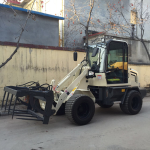 ZL08-800kg mini mini loader with grapple grass fork