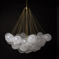 Hot Sales Modern Transparent with G9 Metal+ Glass Chandelier Light