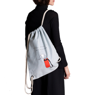 Women Denim Drawstring Vegan Backpack for Christmas gift