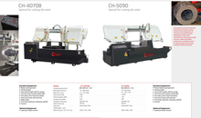 CH SERIES DOUBLE COLUMN SEMI AUTOMATIC BAND SAWS CH4070B-CH5090