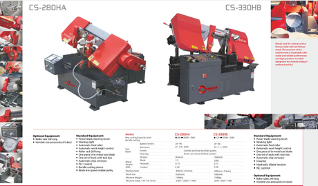 CS SERIES PIVOT FULLY AUTOMATIC BAND SAWS CS280HA-CS330HB