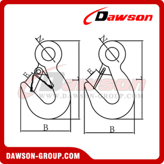DS460 Eye Tow Hook con cierre