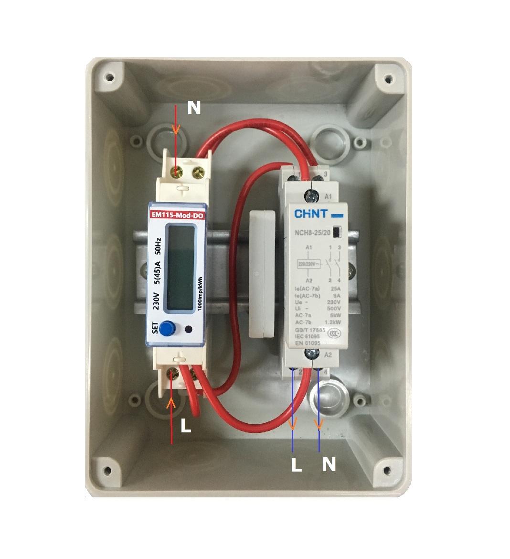 EM115-Mod-DO 实物接线图1
