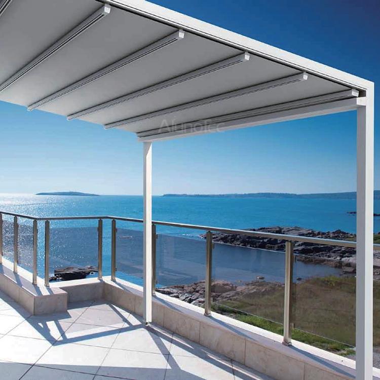 Outdoor Aluminium Retractable Roof Shading System   Buy Retractable Awnings,  Retractable Awning System, Aluminium Roof System Product On AlunoTec
