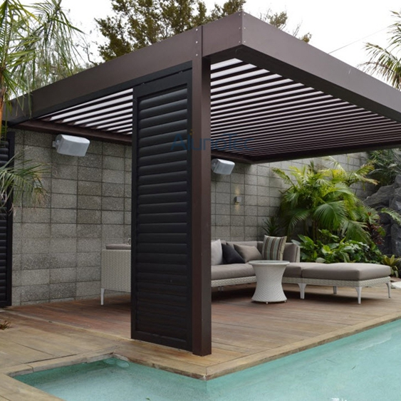 Automatic aluminum louvered pergola kits buy aluminum pergola louvered per - Pergola aluminium en kit ...