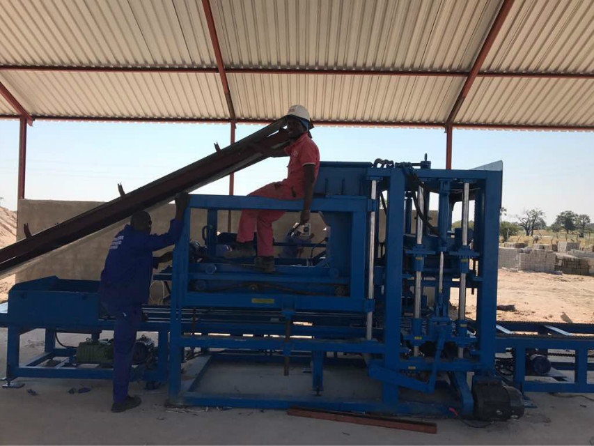 纳米比亚QTY6-15 block machine in Namibia (16)