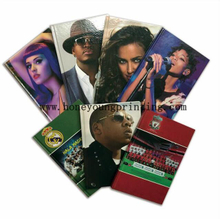 A5 size hard cover 8mm ruled line notebook football star singer