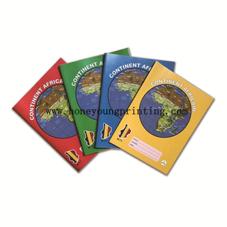 Continent Africain Cahier Scolaire 16.5x21.5cm 100 200 pages seyes Couleurs assorties
