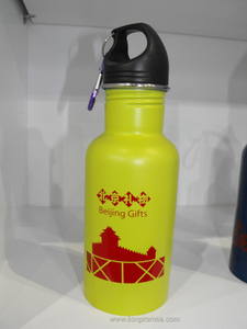 Wide Mouth Beijing Tourism Souvenir Metal Sports Bottle
