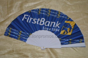 Bank Logo Printed Advertising Gift Plastic Folding Fan