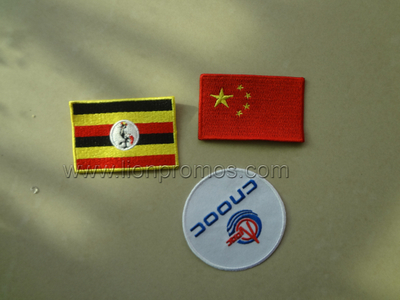 CNOOC Logo Bag Garment Accessory Embroidery Logo Badge Patch