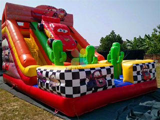Big Commmercial Inflatable Popular Race Car Dry Slide for Kids
