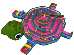 New Design Fantastic Outdoor Inflatable Turtle Shape Obstacle Course for Children
