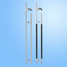 Glass Pull Handle with Lock (FS-1801)
