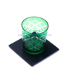 200 ml Japanese cherry blossom hand cut glass tumbler and beer glass cup