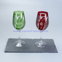wine glass drinking cocktail wine glasses with stone coaster