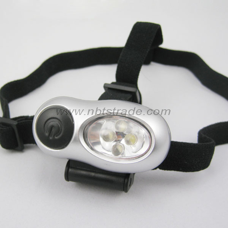 Micro 4 LED Headlight with Elastic Nylon Band