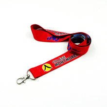 Custom badge holder lanyards with heat transfer print logo