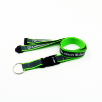 Customized reflective lanyards with print logo for badge holders