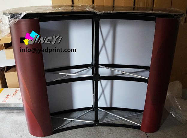 High Quality Magnetic Pop up Table Stand Aluminum Podium Display With Printing