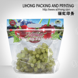 Bio Degradable Material-Fruit and Vegetable Vent Pouch With Side Slider