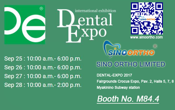 Dental-Expo 2017 25th-28th Sep meet us at Booth M84.4