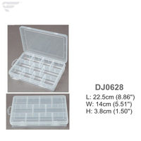 DJ0628 Removable Dividers Clear Plastic Box