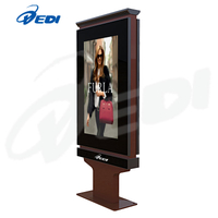 Dedi 55inch fan-cooling outdoor advertising display with LED poster
