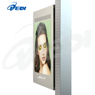 55inch fan-cooling outdoor advertising display - Pole style with trapezoid desi