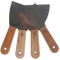 High Polished Construction Putty Knife Tool with Wood Handle