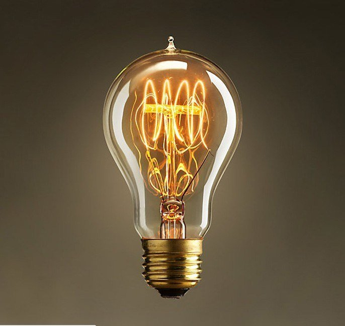 Edison Lamps Vintage Lamps Classical Tungsten Lamp 60W Clear