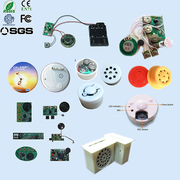 Customized phrase sound modules voice recordable for doll and toy