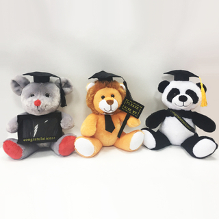 Stuffed Graduation Animal Mouse Lion And Panda Plush