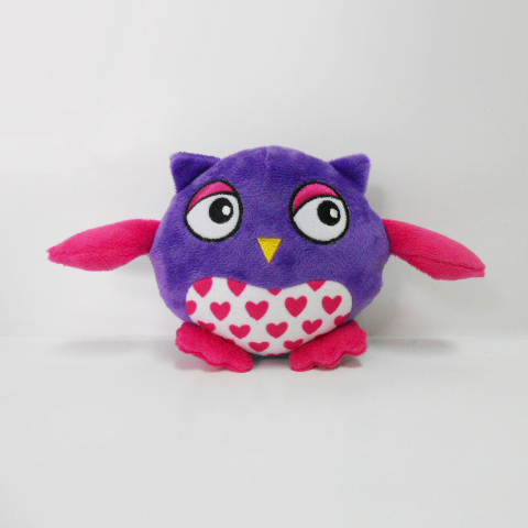 New Plush Owl Shaped Sound Chew Squeaker Interactive Pet Toy
