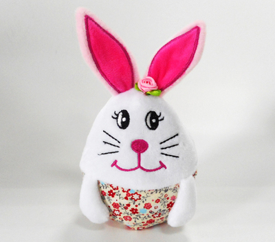 Super Soft Easter pink Rabbit Shape Stuffed Egg Toys