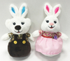 Sweety dress Couple rabbit teddy bear toys for wedding gifts