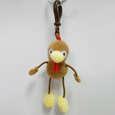 Custom Soft Plush Hen Toy Keychain