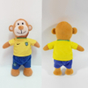 Custom Factory OEM Soft Plush Monkey Football Player Toy
