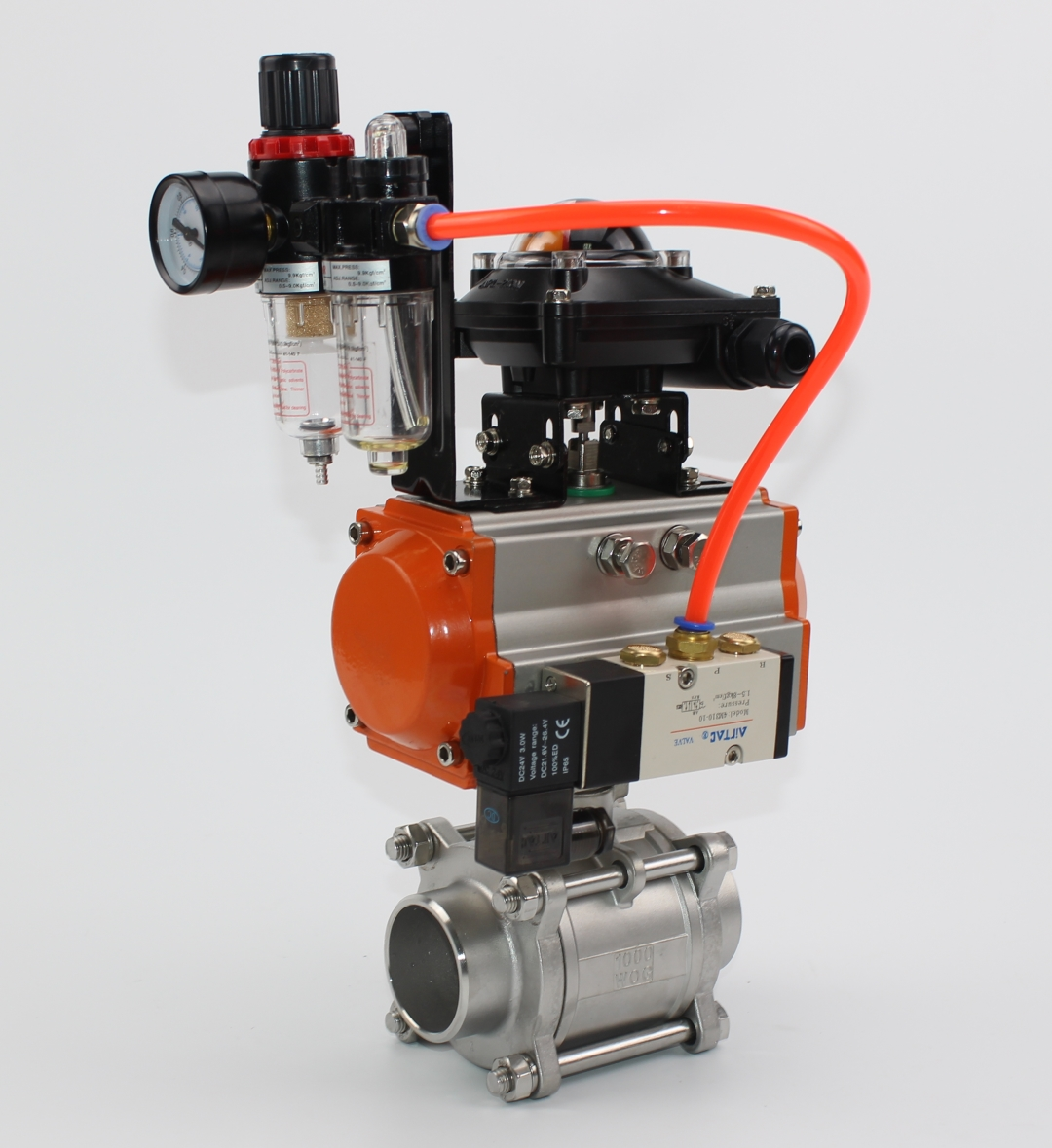 3PC Ball Valve With F.R.L Unit