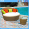PE Rattan Furniture Garden Daybed Wholesale